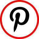 media, pinterest, online, social icon