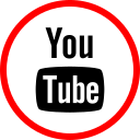 media, online, youtube, social icon