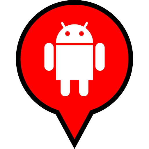 android, logo, pin icon