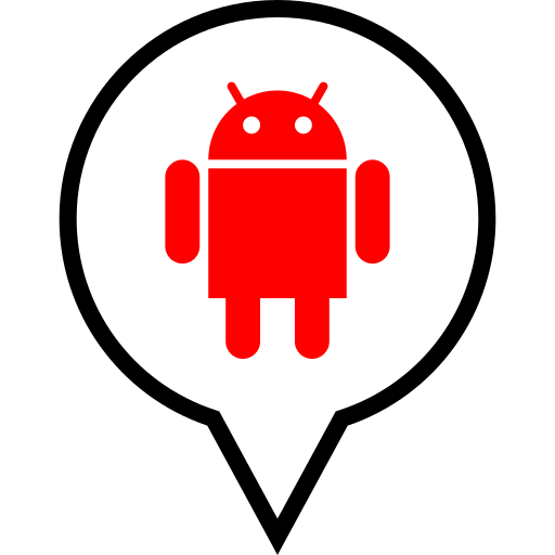android, pin, social icon