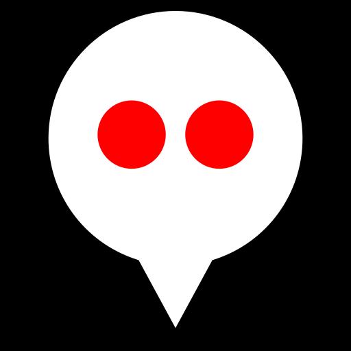 flickr, pin, social icon