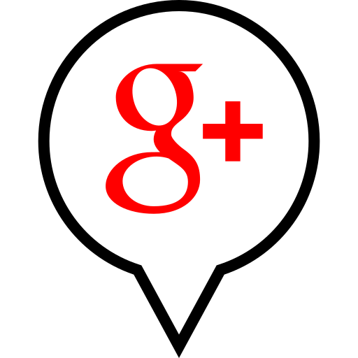 google, pin, plus, social icon