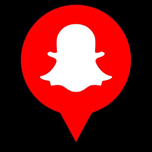 logo, pin, snapchat icon
