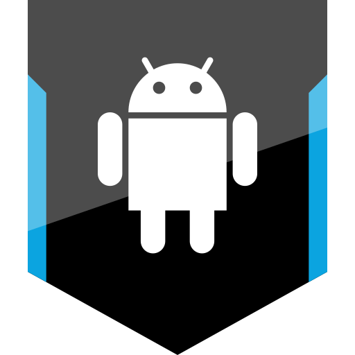 android, shield, social icon
