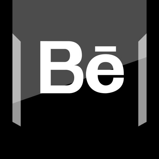 behance, logo, social icon