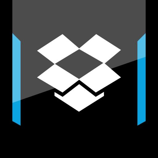 dropbox, shield, social icon
