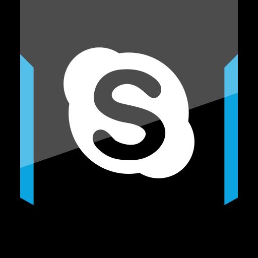 shield, skype, social icon