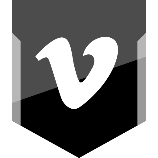 logo, social, vimeo icon