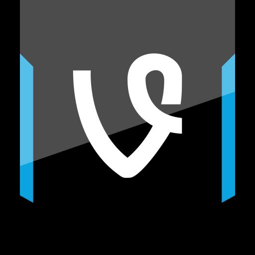 shield, social, vine icon