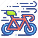 bicycle, bike, cyclist, racer, ride, rider, transport icon