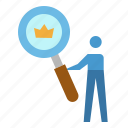 analysis, browser, crown, seo, website icon