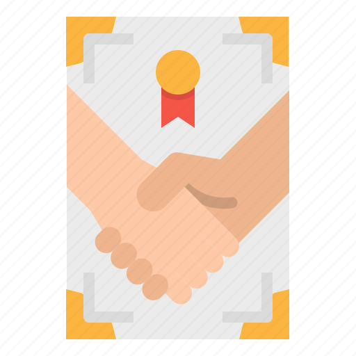 contract, document, paper, pen, signing icon