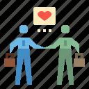 business, businessman, coworker, help, team icon