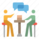chat, discussion, network, speech, work icon