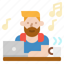 freelance, job, laptop, work, worker icon