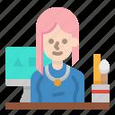 designer, graphic, job, occupation, profession