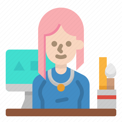 designer, graphic, job, occupation, profession icon