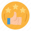 award, like, recommend, thumbs, up icon