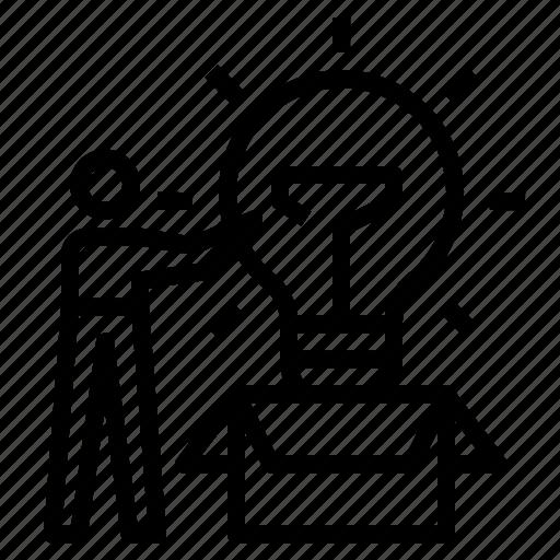 box, creative, creativity, idea, knowledge icon
