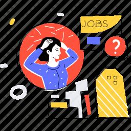 job, search, unemployment, dismissal, hr