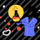laboratory, chemist, science, flask