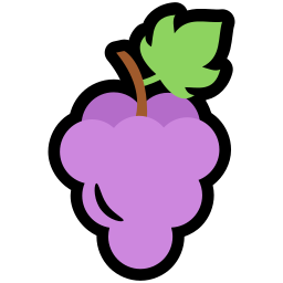food, grapes, nutrition icon