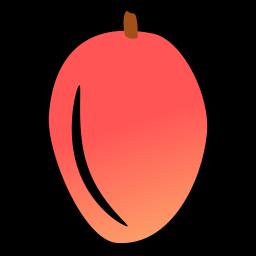 food, mango, nutrition, summer, tropical icon