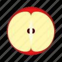 apple, cross section, fresh, fruit, high saturation