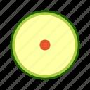 avocado, cross section, fresh, fruit, high saturation, tropical icon