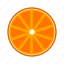 cross section, fresh, fruit, high saturation, orange