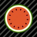 cross section, fresh, fruit, high saturation, watermelon