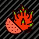 dragon, food, fruit, healthy, juicy icon