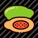 food, fruit, healthy, papaya, vitamin icon