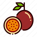 food, fresh, fruit, juicy, passion icon
