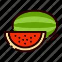 food, fruit, healthy, juicy, watermelon icon