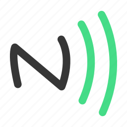 connection, internet, network, nfc icon