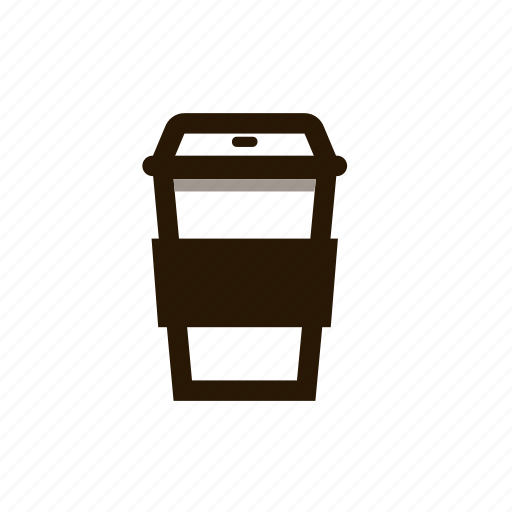 coffee cup, cup, sleeve, starbucks icon