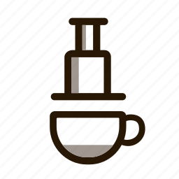 drip, infusion, making coffee, press icon