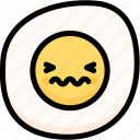 confounded, emoji, emotion, expression, face, feeling, fried egg