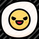 emoji, emotion, evil, expression, face, feeling, fried egg
