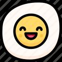 emoji, emotion, expression, face, feeling, fried egg, laughing