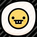 emoji, emotion, expression, face, feeling, fried egg, nerd