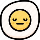 emoji, emotion, expression, face, feeling, fried egg, neutral icon