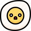 emoji, emotion, expression, face, feeling, fried egg, shocked icon