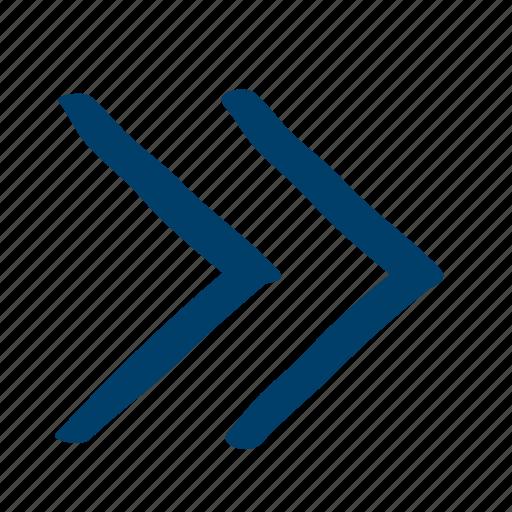 arrow, forward, skip icon