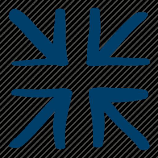 arrow, center, zoom icon