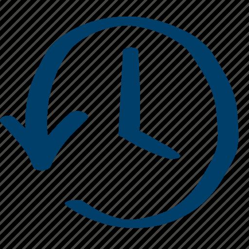 anticlockwise, circular, counterclockwise icon