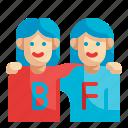 friend, best, friendship, relationship, partner
