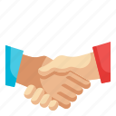handshake, agreement, reliable, cooperation, commitment