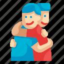 hug, hugging, couple, friendship, relationship